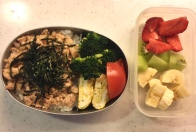 chicken soboro donburi bento