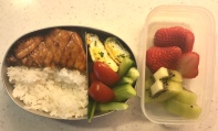 simmered sword fish bento